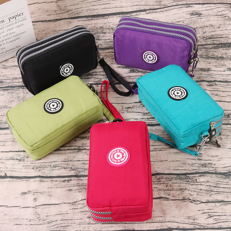 2020 New Women's Long Wallet Canvas Clutch Bag Coin Purse Women's Nylon Clutch Mobile Phone Bag