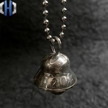 Vintage Handmade Foreign Blessing Coin Wind Bell Pendant Car Keychain EDC