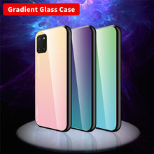 Luxury Gradient Tempered Glass Case For Samsung Galaxy A50 A70 A40 A30 A20 A10 A90 5G S20 Ultra S10 S9 S8 Plus A51 A71 A01 cases(China)