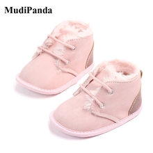 Baby Shoes Boots Toddler Girls Boys Winter New Plush Mudipanda Cotton for Lightweight