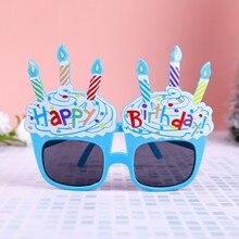 Eyewear Happy-Birthday-Cream Novelty-Decoration Eyeglasses Photo-Props Funny HATOSTEPED
