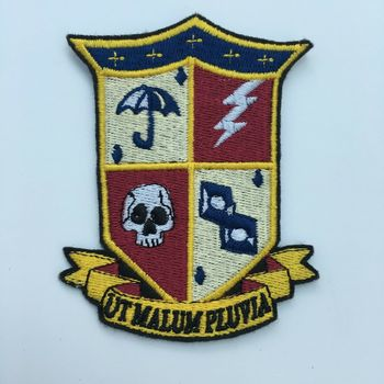 Handmade The Umbrella Academy Iron on Embroidery School Emblem Patch pins for backpacks