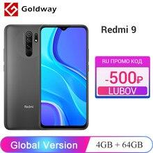 Versión Global Xiaomi Redmi 9 4GB RAM 64GB ROM teléfono móvil Helio G80 Octa Core 13MP Quad Cámara 6,53