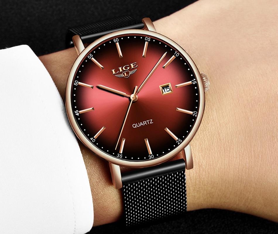 H5efbed82f6bd412d9c5ba1af3e8f1f29G LIGE Fashion Mens Watches Top Brand Luxury Blue Waterproof Watches Ultra Thin Date Simple Casual Quartz Watch Men Sports Clock