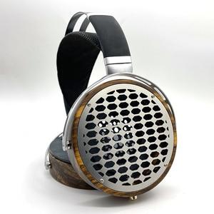 Image 1 - 105mm גדול אוזניות דיור פתוח סוג אוזניות אוזניות DIY מותאם אישית עץ אוזניות פגז מקרה