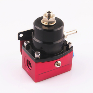 Image 4 - aluminum Fuel Pressure Regulator black and red style AN6 port quality assurance