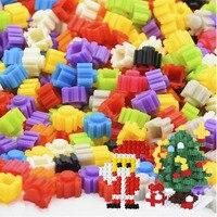 200 sztuk kolorowe Micro diamentowe klocki 8*8mm DIY kreatywne małe klocki Model figurki edukacyjne zabawki dla dzieci prezenty