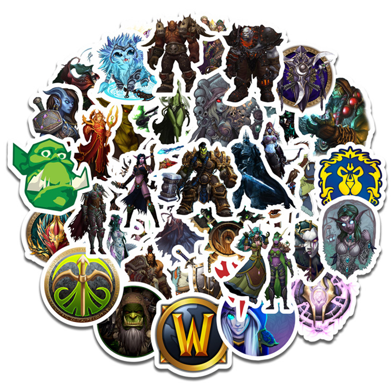 World Of Warcraft Sticker Cosplay Accessories Prop Decal Waterproof Cartoon Collect Stickers