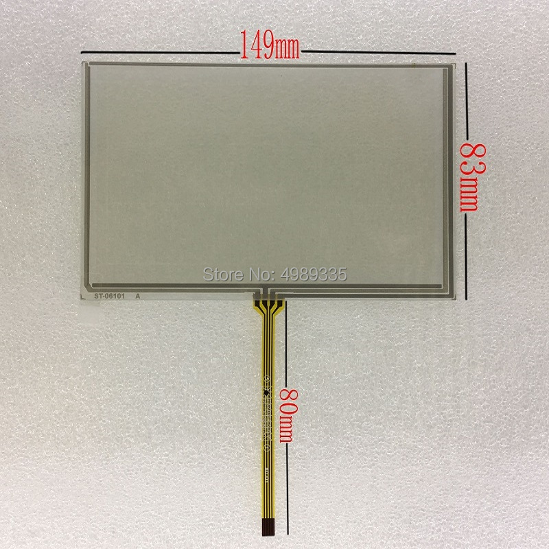 6.1-inch Resistive Touch Screen Panel 4-wire St06101 For Car DVD GPS Navigation Handheld Device Touch Screen 149X83mm