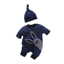 YiErYing Newborn Romper Sets Spring Autumn Fashion 2Pc Long Sleeve Cartoon 100% Cotton Leisure Hat+Jumpsuit Baby Clothes Suits