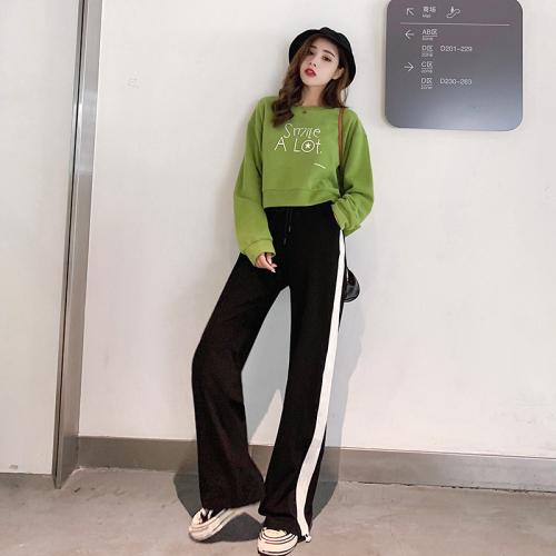 Two Piece Fashion Loose Korean Vintage Striped Set