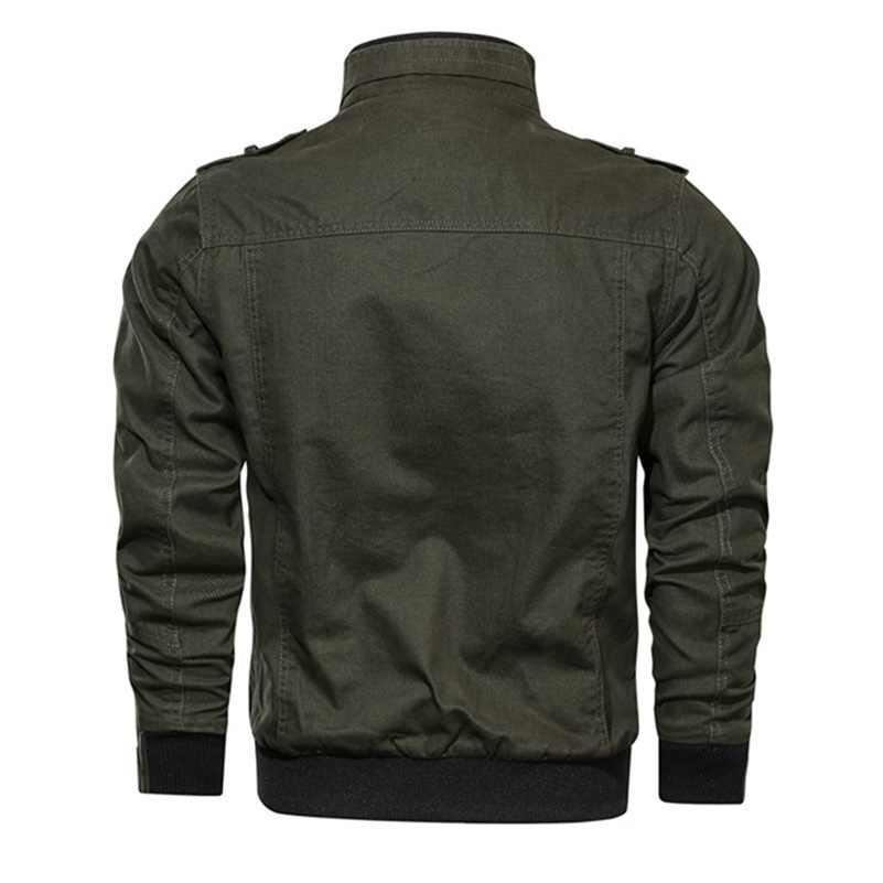 전술 군사 코튼 자켓 남자화물 에어 파일럿 폭격기 코트 남성 캐주얼 지퍼 회전 칼라 자켓 남자 가을 겨울 Outwear