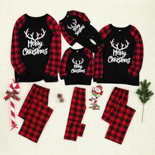 Рождественская блуза с принтом для детей и папы, топы и штаны, детские комбинезоны для малышей, комбинезон, Рождественская семейная одежда, пижамы