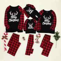 Christmas Man Daddy Children Kids Print Blouse Tops And Pants Toddler Baby Romper Jumpsuit Xmas Family Clothes Pajamas