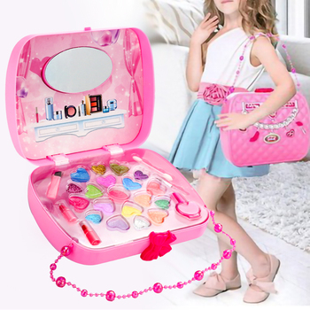 Eco-friendly Girls Makeup Set Cosmetic For Girls Pretend Princess Play Toy Decor Kit Kids Complete Professional Makeup Toys bellylady kids girl makeup set eco friendly cosmetic pretend play kit princess toy gift