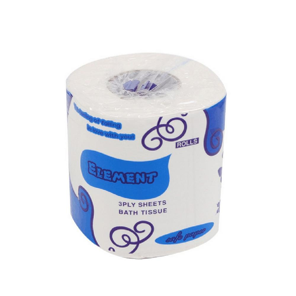 Toilet Paper, 3 Ply Wood Pulp Super Soft White Thicken Hand Paper Towels, Toilet Paper Rolls Bath Tissues For Home Kitchen