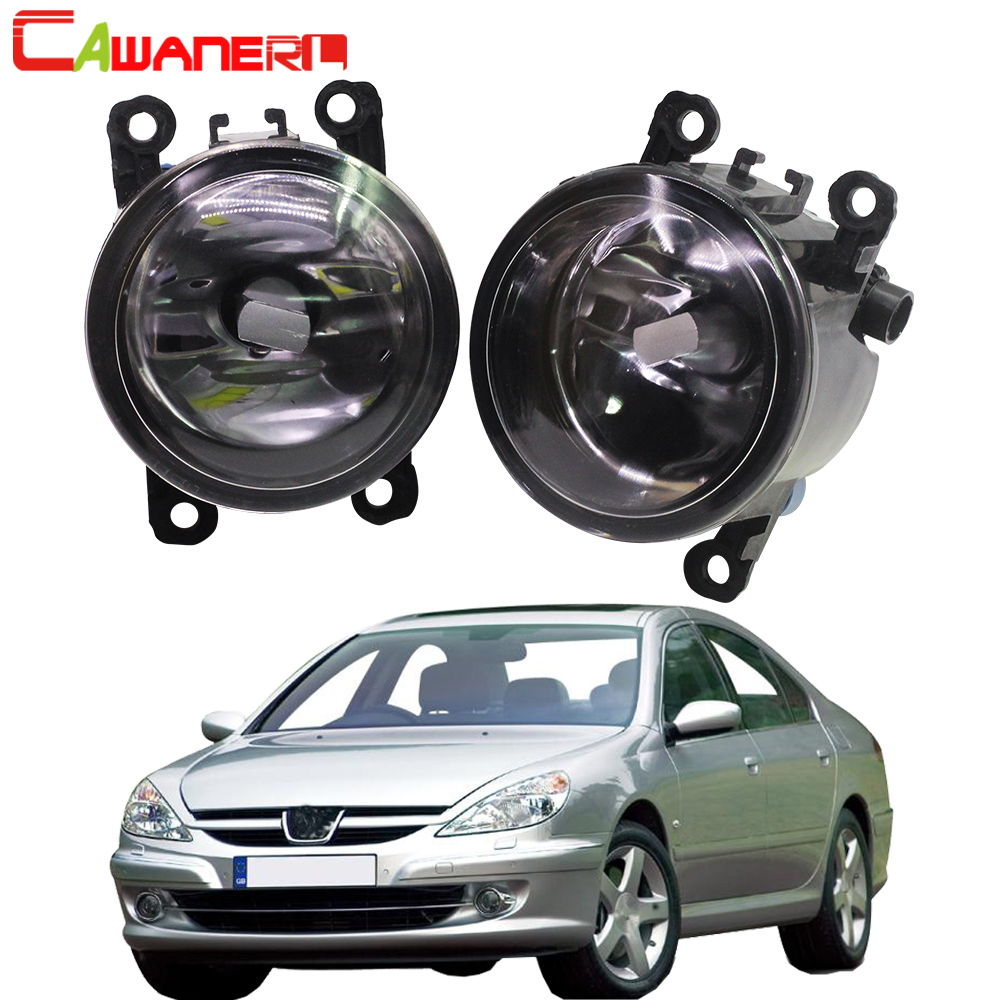 Cawanerl For 2000-2006 <font><b>Peugeot</b></font> <font><b>607</b></font> (9D, 9U) Saloon Car Styling Fog Light Lampshade + H11 LED / Halogen Lamp DRL 12V image
