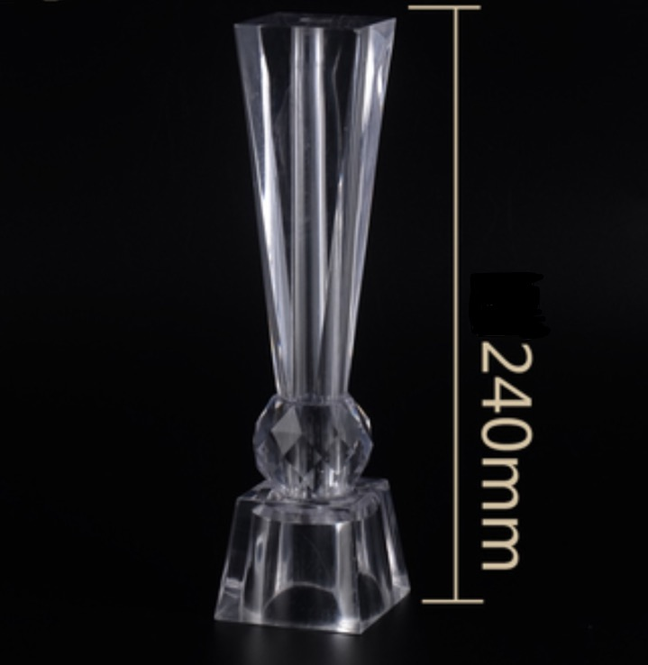 4Pieces/Lot H:163MM Acrylic Glass Tea TVCabinet Feet Coffee Table Support Legs Furniture Fittings