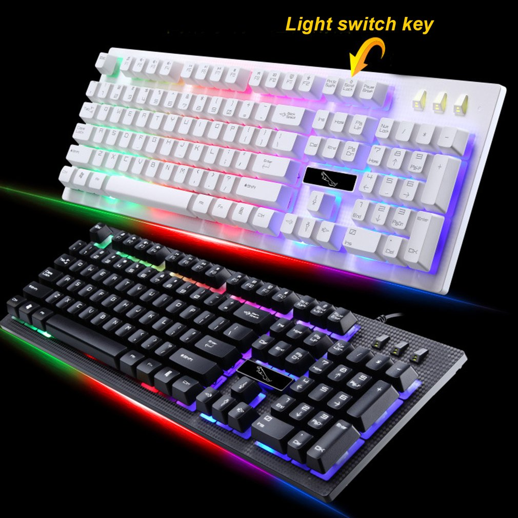 G20 USB Wired Mechanical Keyboard Suspended With Led RGB Colorful Backlight Gaming Keyboard Waterproof For PC Computer Gamer