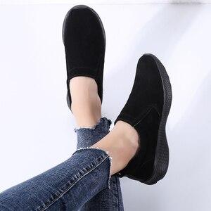 Image 4 - STQ Outono Mulheres Apartamentos Sapatas Das Senhoras Mulher Slip on Mocassins Oxfords Sapatos Flats Sapatilhas Sapatos Tenis Feminino 0731