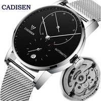 CADISEN-Reloj de pulsera mecánico automático para hombre, reloj masculino de pulsera masculino de lujo, resistente al agua hasta 5atm, para negocios y ocio