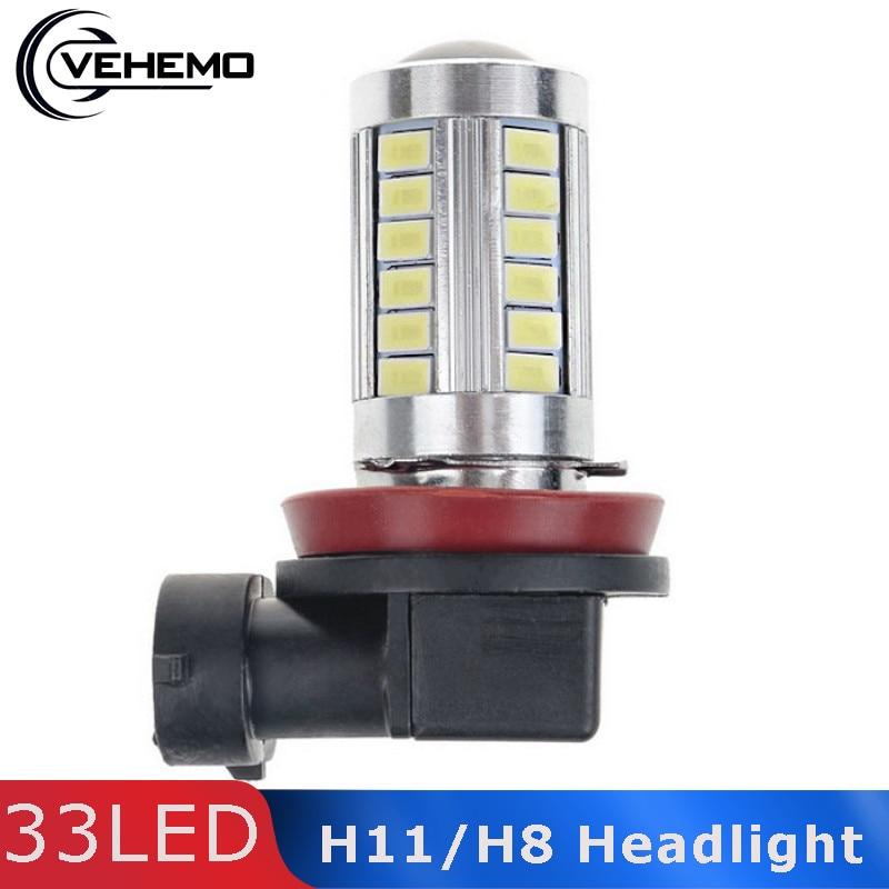 Vehemo Super Bright H11/H8 SMD5630 White LED Car Fog Driving Light Headlight 12V