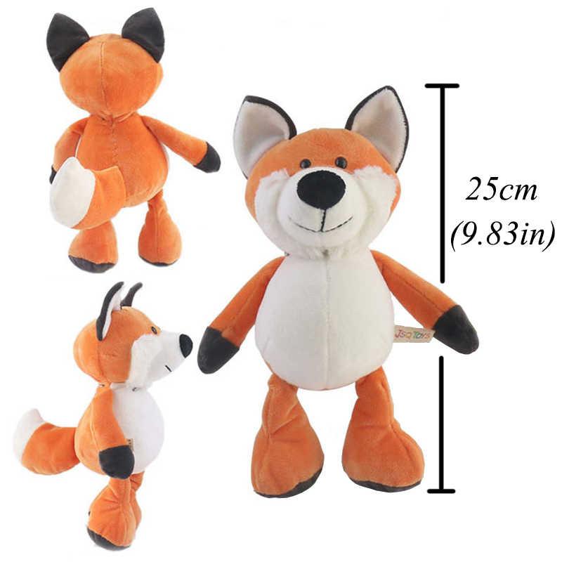 25cm mignon animaux en peluche en peluche raton laveur éléphant girafe renard Lion tigre singe chien en peluche Animal jouet pour les peluches des enfants
