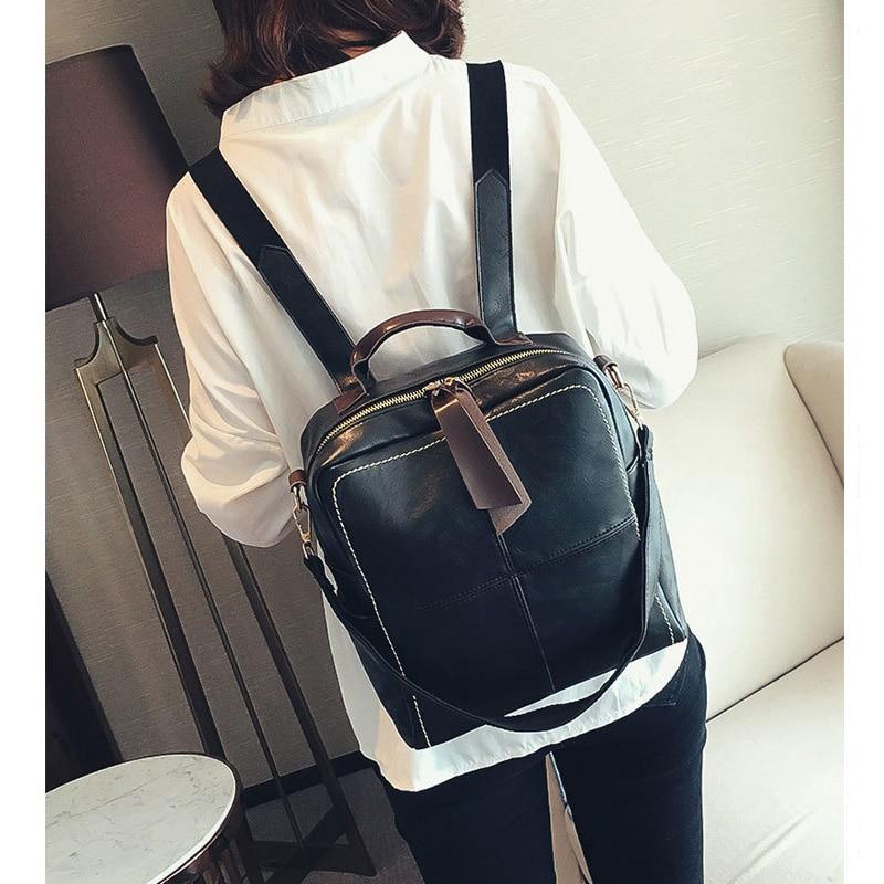 Fashion Leather Women Backpack Anti-thief Female Shoulder Bag Large Capacity Waterproof Backpacks Travel School Mochilas Bags
