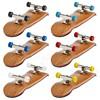 Style Wooden Deck Fingerboard Skateboard Sport Games Kids Gift Maple Wood New