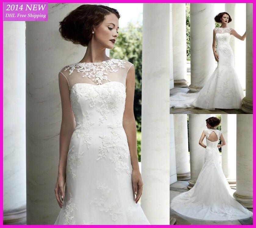 Ia Colher Elegante Senhora Manga Com Apliques Cetim Vestidos De Noiva Branco/vestido De Noiva Marfim Personalizado Wedding Dress