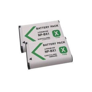 2pcs 3.6V 1350mAh Digital Li-ion Battery NP-BX1 for Sony DSC RX1 RX100 M2 M3GWP88 RX1R PJ240E AS15 HX300 HX400 WX350 WX300