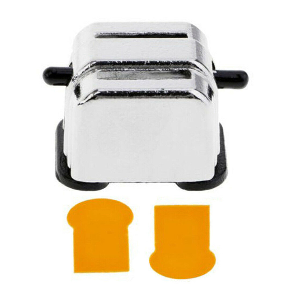 Toy Model Miniature Toaster Funny Decoration 1:12 Scale Doll Houses Cookware DIY