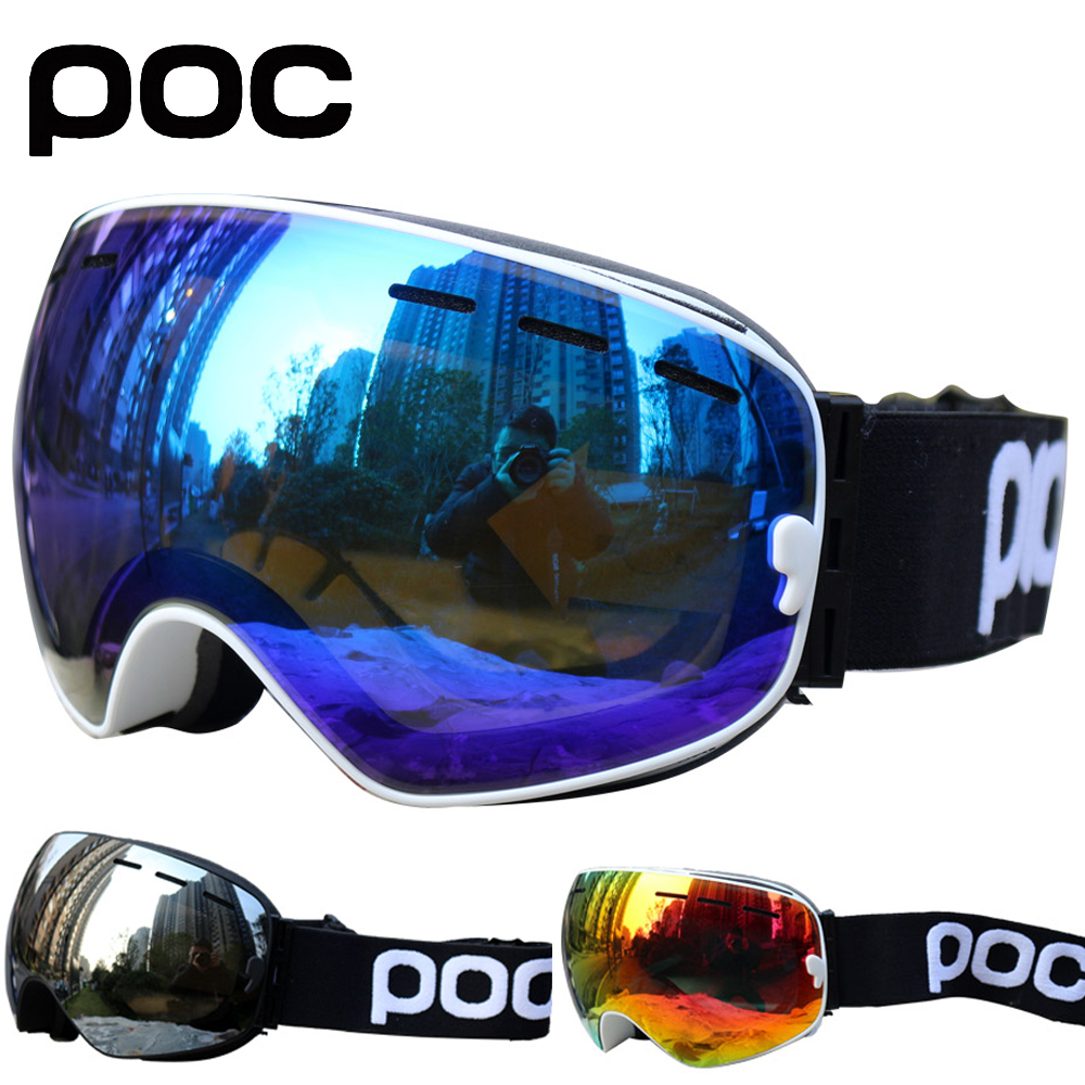 Snowboard Goggles Glasses Ski-Mask Skiing Uv-Protection Anti-Fog Double-Layers Men Women title=