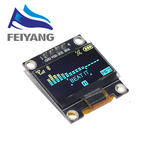 Image 5 - New product 0.96 inch OLED IIC White/YELLOW BLUE/BLUE 12864 OLED Display Module I2C SSD1306 LCD Screen Board for Arduino