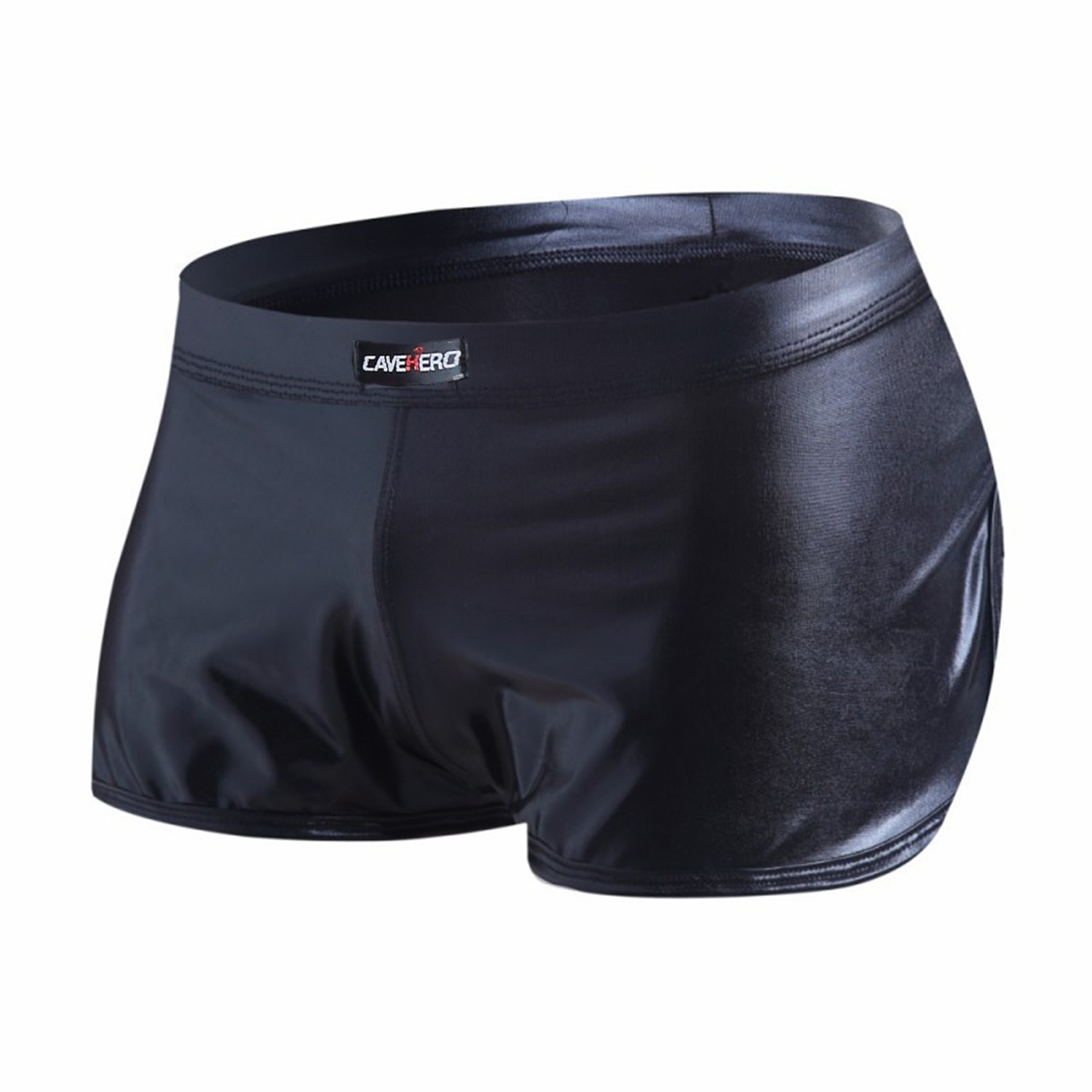 Faux Leather Mens Shorts Gym Clothing Men Shorts Hot Pants Sport Shiny Shorts Fitness Men Clothes Short Pants Men