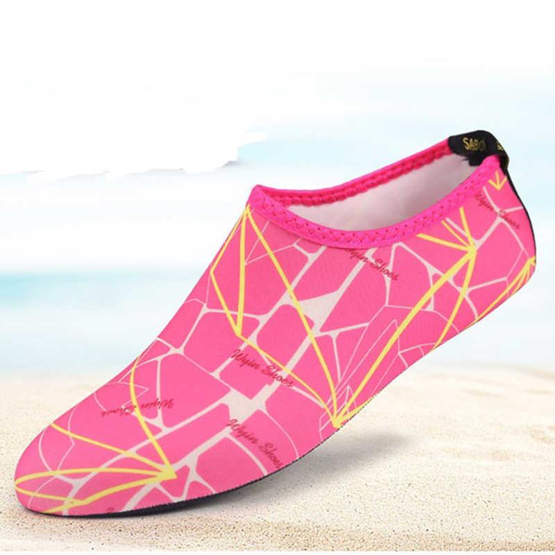 Baskı Şnorkel Çorap Hızlı Kuru Scuba Çizme Ayakkabı Rahat kaymaz Dalış Çorap Su Geçirmez Plaj Spor Nefes