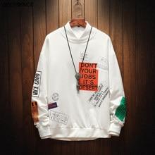 2021 Spring New Men's Casual Sweatshirts Men's Clothing Round Neck Fashion Hip-Hop Shirts Fitted Men's Streetwear Men