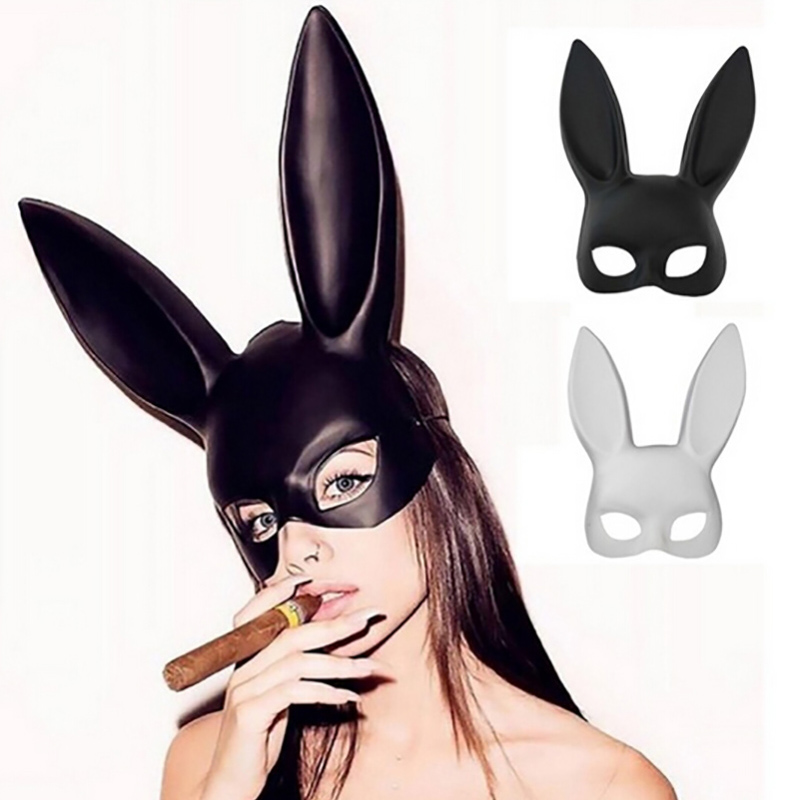 4Colors Women Girl Sexy Rabbit Ear Cute Bunny Long Ears Bondage Halloween Toys Hat Animals & Nature Rabbit Ear Mask