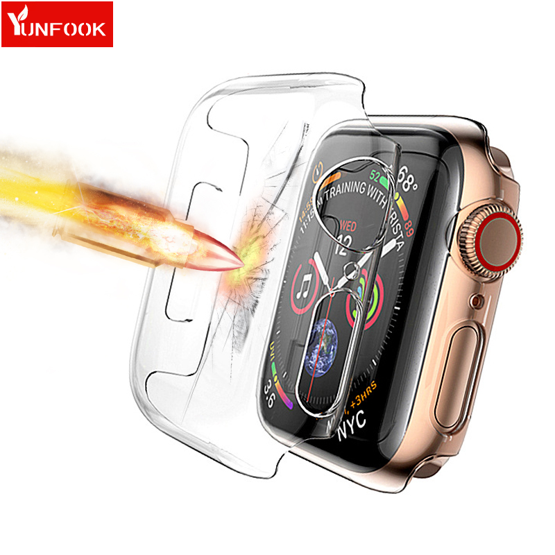 Screen Protector Case For Apple Watch 5 4 Band 44mm 40mm Correa Iwatch Band 42mm 38 Mm PC HD Anti-drop Waterproof Bumper Cover 5