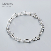 Modian Hight Quality 925 Sterling Silver Minimalism Bracelet
