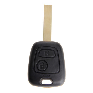Image 5 - 2 Buttons Replacement Key Shell Uncut Blade Car Remote Blank Key Fob Case Covers For Peugeot 107 207 307 407 607 1007 C2