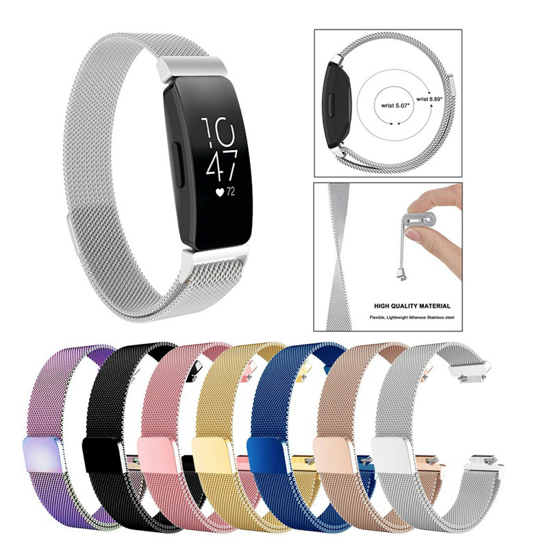 Watch Band For Fitbit Inspire HR Band Milanese Loop Magnetic Stainless Steel Replacement For Fitbit Inspire Smart Accessories