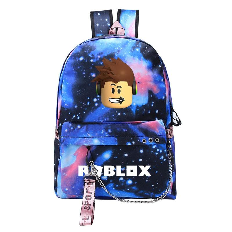 Blue Mochila roblox backpack for teenagers Kids GIRLS Student School USB Bags Laptop Boy Shoulder Bags travel backpack