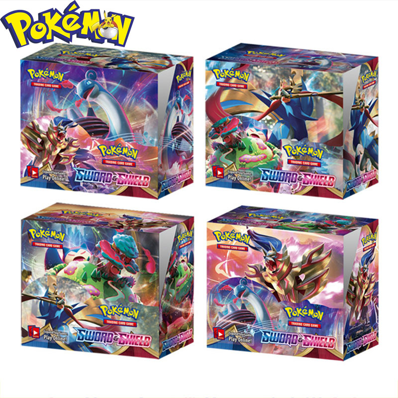324Pcs English Pokemon Sword  Shield English Cards Trade Game Battle Card Collection Model Toys Birthday Gifts Kids