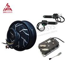 QSMOTOR 12*3.5 inç 12kw 260 V4 e scooter Hub Motor kitleri ile Kelly KLS96601 8080H denetleyici Z6 gaz kelebeği