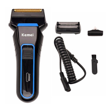 100-240V Electric Shaver Reciprocating Double Blade Razor Barber Mens