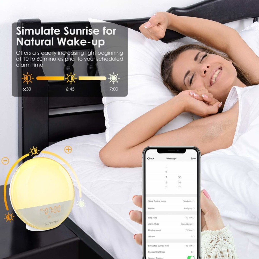 WIFI-smart-voice-control-alarm-clock-wake-digital-snooze-nature-night-light-clock-work-with-Alexa (5)