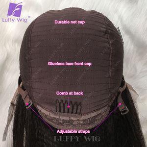 Image 5 - Preplucked焼きストレートレースフロントかつら13 × 4レースフロント人毛かつらブラジルのremy毛晒ノットルフィかつら