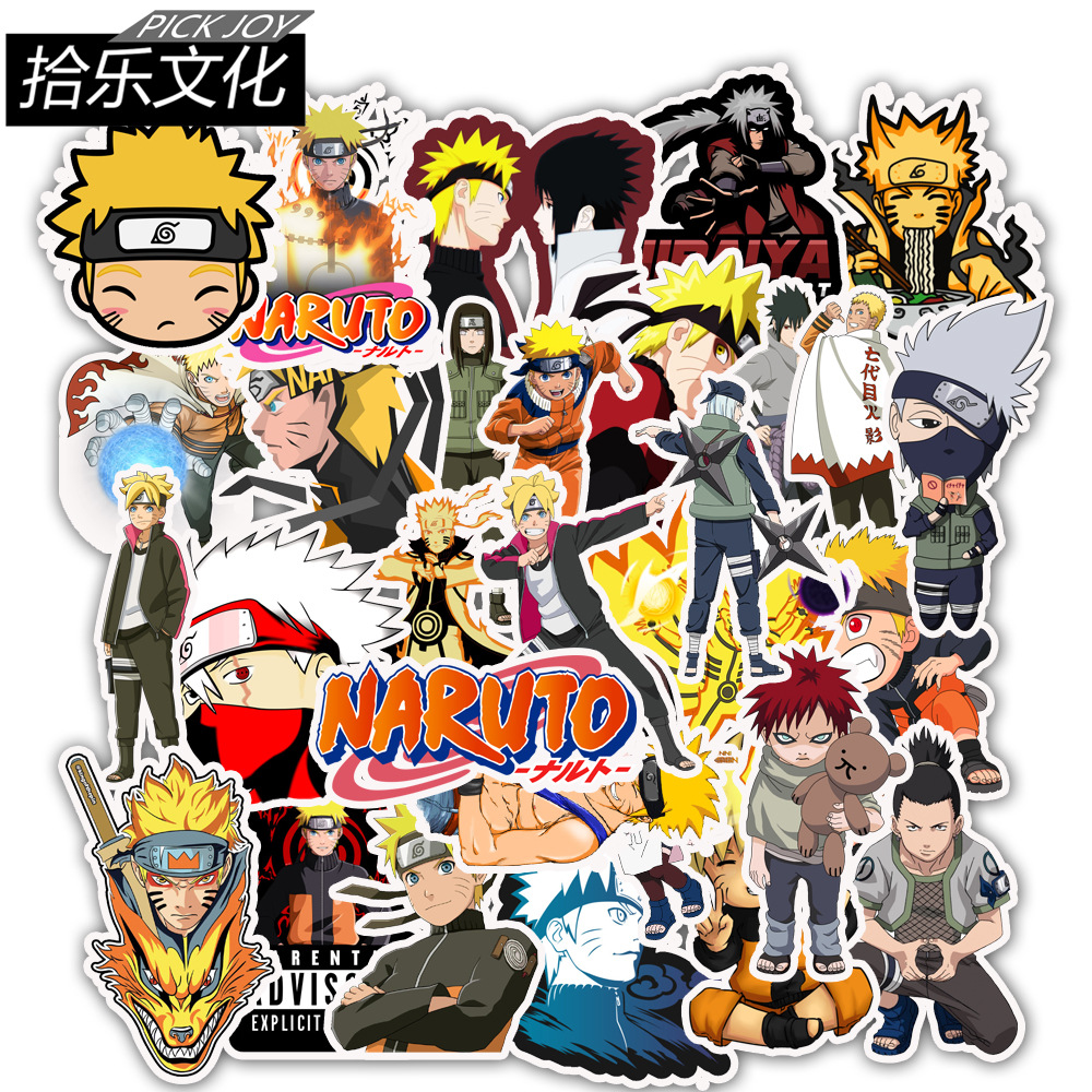 50pcs NARUTO Uzumaki Mixed Cartoon Stickers Styling Animation Phone Laptop Travel Luggage Cool Funny Sticker JDM Decals