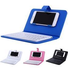 Hobbylan портативный беспроводной Чехол для клавиатуры из искусственной кожи, защитный чехол для телефона с Bluetooth клавиатурой для iPhone 6 7, смартфона d20